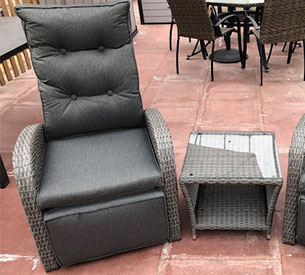 grey rattan conservatory chair