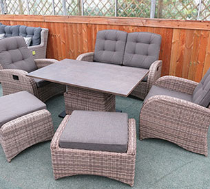 conservatory sofa set brown
