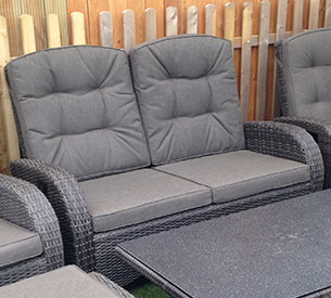 grey rattan sofa